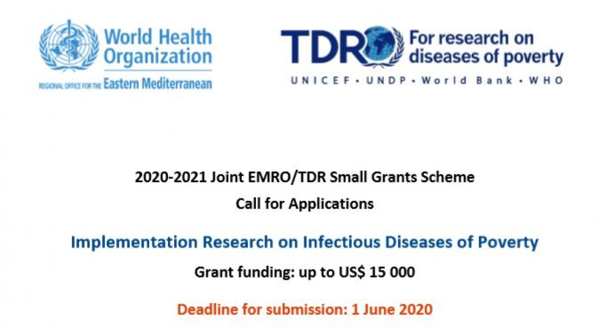 Call for applications - TDR Small Grants for 2020-21