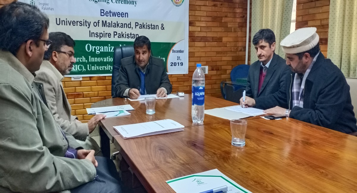 MoU between Inspire Pakistan and University of Malakand