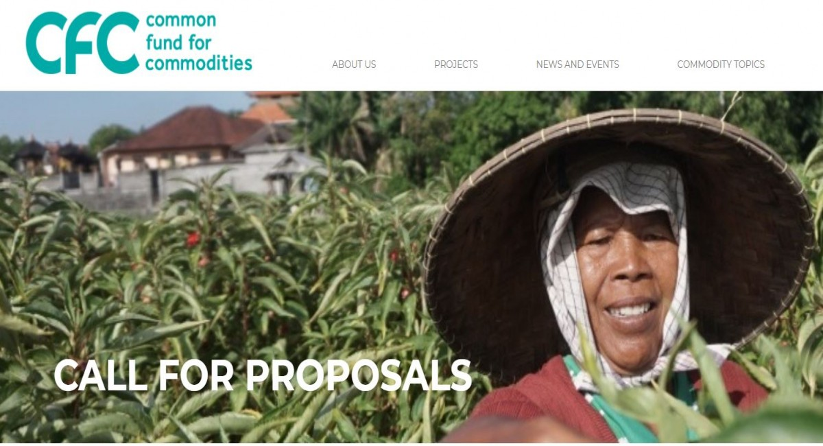 Call for Proposals by Common Fund for Commodities (CFC)